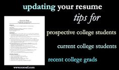 When to update your resume - tips for students and grads