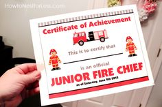 fireman birthday printables