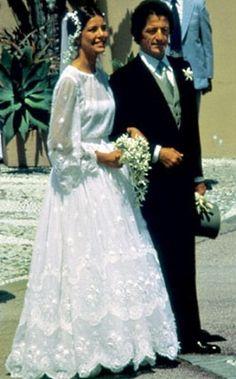 Princess Caroline: Christian Dior Haute Couture by Marc Bohan, 1978.