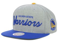 5feff61c2b3 Golden State Warriors Mitchell and Ness NBA Special Script Road Snapback  Cap Hats Warrior Fashion