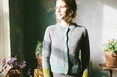 Louise Knitting pattern by Carrie Bostick Hoge Knitting Projects, Knitting Patterns, Knitting Ideas, Thing 1, Honey Colour, Trim Color, Stockinette, Cozy Sweaters, Needle And Thread