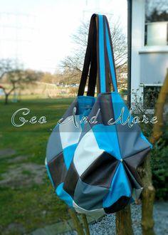 Geo and More: Patchworktasche aus Kunstleder