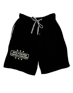 TooLoud Always A Soldier Adult Lounge Shorts  Black 2XL * Click on the image for additional details.