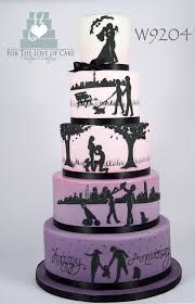 ombre silhouette wedding cake
