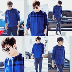 Lee Min Ho departing for Taiwan from Incheon Airport.