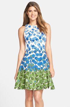 Maggy London Floral Print Fit & Flare Dress (Regular & Petite)   Nordstrom