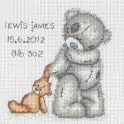 Image of Tatty Teddy Birth Sampler Cross Stitch Kit