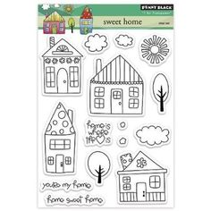 Penny Black Decorative Rubber Stamps, Sweet Home by Penny Black Inc.