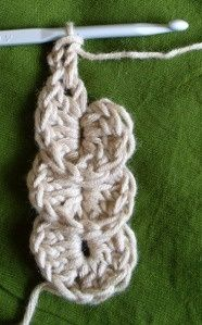 Wave crochet…looks like broomstick lace, but much easier.