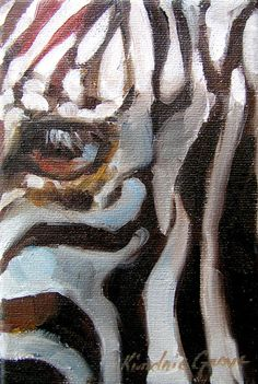 """Zebra Eye"" by Kindrie Grove. Crop in close to eye of a Zebra is 4 x 7 inches…"