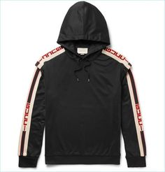 Gucci Oversized Taped Jersey Hoodie Sudaderas de hombre  MensWear  Trindu  Gucci Hoodie f392228bad0