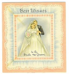 Best Wishes To The Bride and Groom card by Tommer G, via Flickr