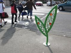 Lace Leaf Bicycle Racks