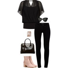 A fashion look from January 2016 featuring Coast blouses, J Brand jeans and Gianvito Rossi ankle booties. Browse and shop related looks.