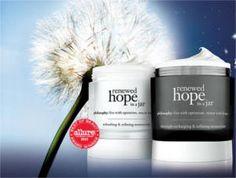 FREE Sample of Philosophy's Renewed Hope in a Jar on http://www.icravefreebies.com/