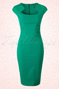 Vintage Chic Jade Classy Pencil Dress 100 40 15327 20150415 0004W