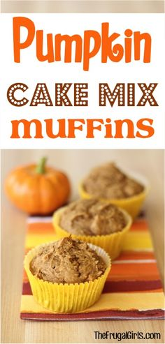 Pumpkin Cake Mix Morning Muffins Recipe! ~ from TheFrugalGirls.com ~ this muffin recipe is SO simple and the muffins are beyond delicious - perfect for an easy breakfast meal or tasty dessert!! #recipes #thefrugalgirls