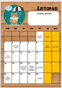 Kalendarz przedszkolaka 2019/2020 - Pani Monia Organization Bullet Journal, English Grammar, Kids Education, Diy For Kids, Coloring Pages, Calendar, How To Plan, School, Children