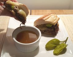 Pressure Cooker Italian Drip Beef French Dip *Or use PW's recipe, just adapt for IP cook time