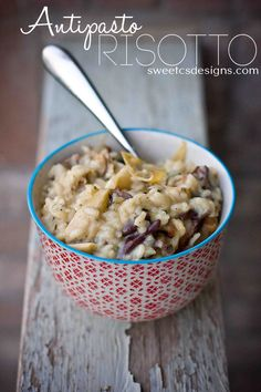 antipasto risotto- a delicious mix of italian favorites in under 45 minutes.
