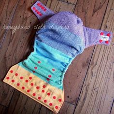 Rainbow Wrap Scrap Cloth Diaper by Honeybuns