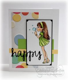 Image from Zuri Artsy Craftsy with YNS Scripty words Copic, Happy Friday, Birthday Cards, Coloring, Artsy, Sketch, Challenges, Fan, Children