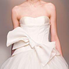 Wedding dress bow.