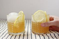 a lemonade and bourbon for two