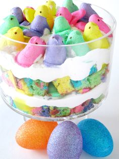 Rainbow Peeps Trifle | Shake Bake and Party   Alana is making this for our Easter gathering