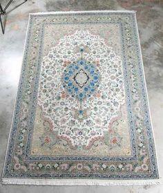 """Hand Woven Silk Tabriz Rug, 6' 8"""" x 10' 6"""""""