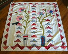 Quilty Folk: Flowers and Flying Geese