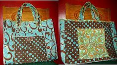Reversible Tote from double sided quilted fabric