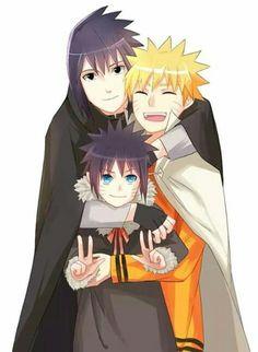 If only... So adorable😍 Naruto E Sasuke, Sasuke Chibi, Naruto Shippuden, Menma Uzumaki, Naruto Funny, Baby Sasuke, Anime Naruto, Hinata, Inojin