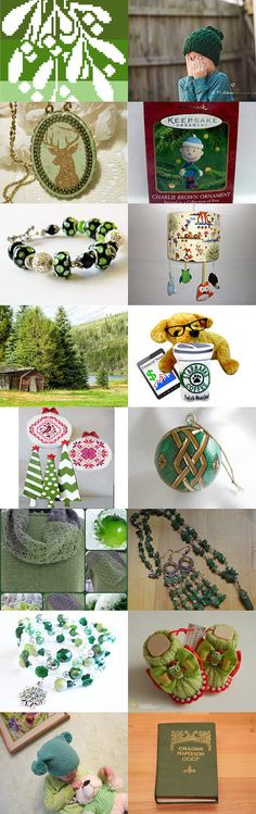 A Green Christmas by Rhian on Etsy--Pinned with TreasuryPin.com