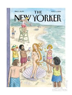 The New Yorker Cover - August 4, 2014 Poster Print by Roz Chast at the Condé Nast Collection