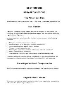 Comprehensive Strategic Business Plan Template Planejamento - Strategic business plan template