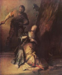 Rembrandt, Samson Betrayed by Delilah, 1628.    Source: Bildarchiv Preussischer Kulturbesitz/Art Resource, New York.    Cost from Art Resource: $58.00