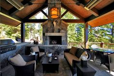 Rustic Outdoor Space - traditional - patio - boise - by Trillium Interior Design