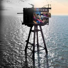 """A preview of what's to come this summer when Tristan Eaton and his recruited team of world renknowned street artists begin an epic and dangerous project in the North Sea to revive the historic Red Sands Sea Forts also known as the Maunsell Sea Forts. """"Painting murals on the Red Sands forts pays homage to their beautiful history and almost gives them the parade they deserved but never got for their service. These forts are a timeless symbol of resistance. Whether fighting the tyranny of the…"""