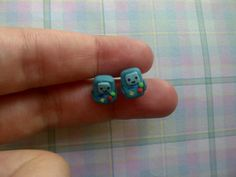 Beemo Earrings  Polymer Clay Hypoallergenic by ChloeyLovesLlamas, $10.00