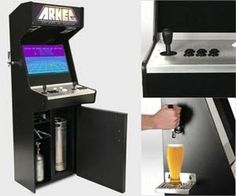 Combine your love of alcohol and arcade gaming with this beer tap arcade machine that comes with over sixty classic arcade titles and a five gallon keg. Capable of serving over fifty five beers from t Pi Arcade, Retro Arcade, Arcade Games, Beer Machine, Arcade Machine, N Game, Filthy Rich, Fancy Schmancy, Beer Taps