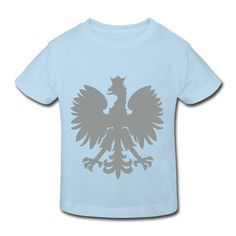 Polska Kinder Bio-T-Shirt Light Blue (Silbergrau/Samtig) - Kinder Bio-T-Shirt