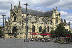 L'Eglise Saint-Michel à Bordeaux - Poster de Bordeaux Monuments, Le Palais, Bordeaux, Barcelona Cathedral, Notre Dame, Building, Travel, Place Of Worship, Antique Post Cards