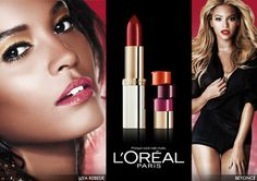 L'Oréal Paris celebrates the diversity and beauty of all women. Brand ambassadors Liya Kebede and Beyonce Knowles show you that you can love and liven up your color with bold hues on your lips. :)