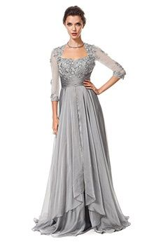A-Line/Princess Asymmetrical Sweep/Brush Train Chiffon Mother of the Bride Dress