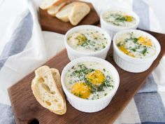 baked eggs with greens