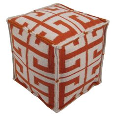 Bring eye-catching appeal to your living room or master suite with this hand-woven wool pouf.   Product: PoufConstructio...