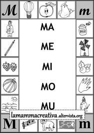 scheda di sillabe mamemimomu da collegare alla parola New Years Eve Party, Speech Therapy, Special Education, Worksheets, Improve Yourself, Alphabet, Homeschool, Letters, Messages