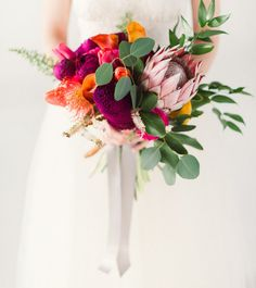 love this colorful tropical bouquet