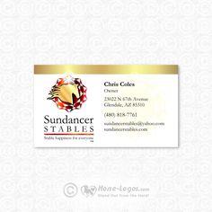 26 best horse business cards images on pinterest horse logo custom equine business card design created for sundancer stables horse art logo colourmoves